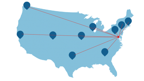 CaryRx US Map with Points-01